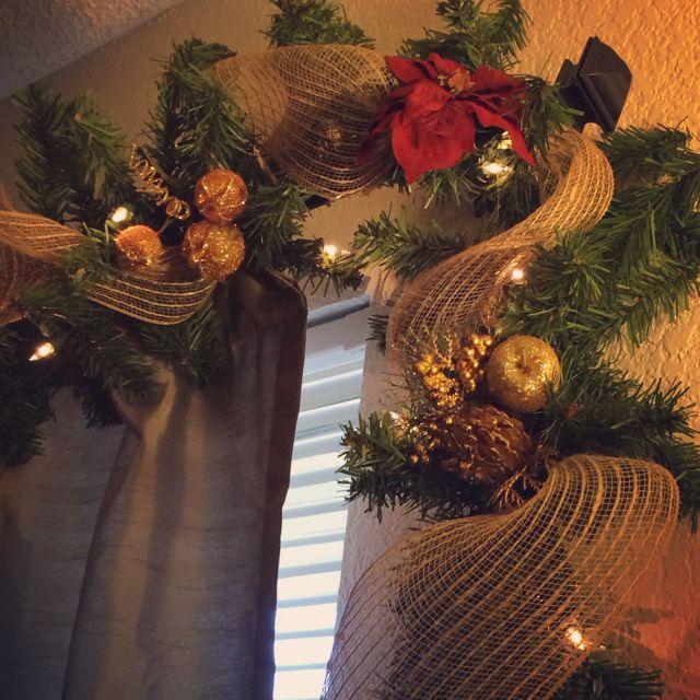 DIY Christmas garland. #xtinaxmas
