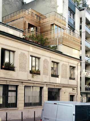 surelevation immeuble paris rooftop extension pinterest anbau architektur und holz. Black Bedroom Furniture Sets. Home Design Ideas