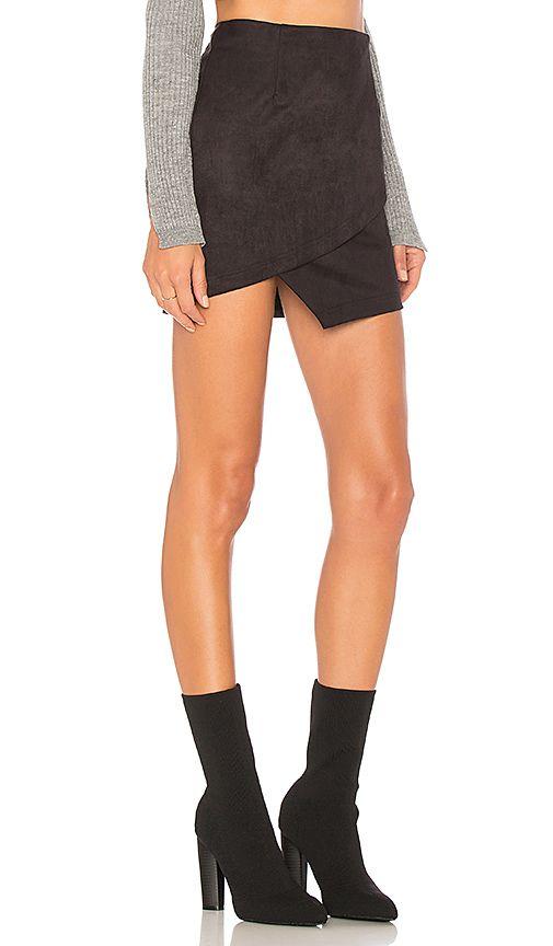 4e955090d Saira Faux Suede Mini Skirt in Black $52 revolve   Style   Suede ...