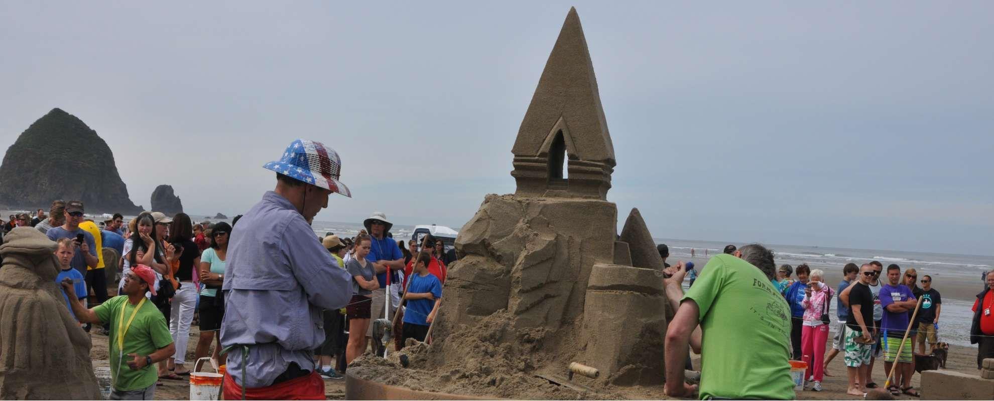 Cannon Beach Oregon Sandcastle Contest Travel