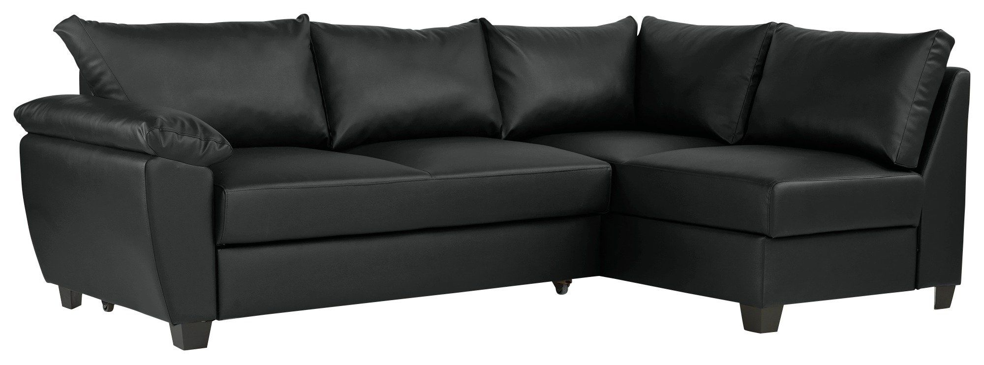 Argos Home Fernando Right Corner Sofa Bed Black In 2020 Sofa Bed Black Corner Sofa Sofa Bed