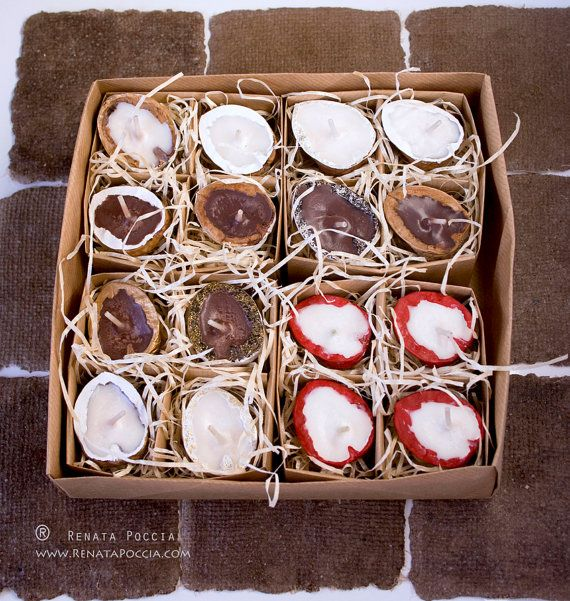 CHRISTMAS candle set  scented  naturally floating