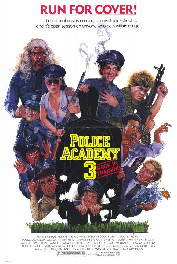 The Man Behind Your Favorite Movie Posters Police Academy Train Movie Police Academy Movie
