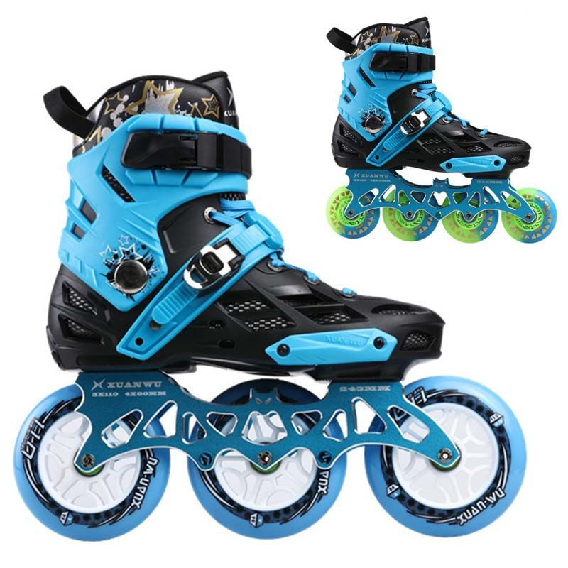 3 Wheel 4 Wheels Inline Skates Xuanwu Roller Slalom Skate Convert To Inline Speed Skates Frame Base For Seba Powerslide User Skate Power Slide