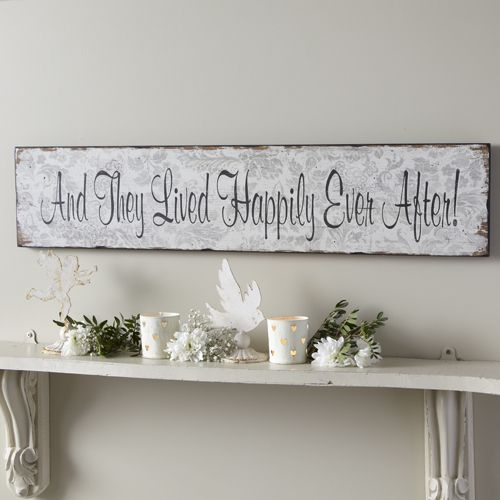 shabby vintage chic plaque and they lived happily ever after plaque sign wedding