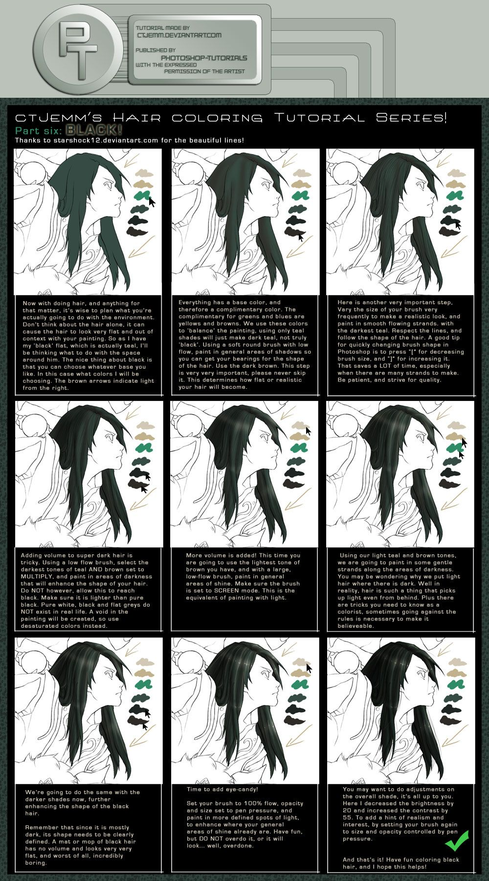 Part 6 Black W By Photoshop Tutorials On Deviantart Photoshop Tutorial Digital Painting Tutorials Photoshop For Photographers
