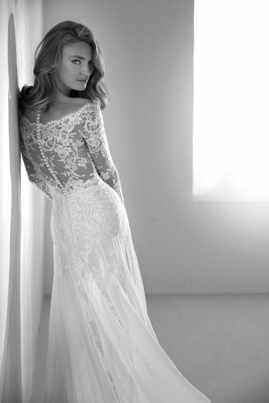 Anastasia S Wedding Look From 50 Shades Freed Get The Look Provonias Wedding Dress Wedding Dresses Sheer Sleeves Wedding Dresses [ 1395 x 930 Pixel ]