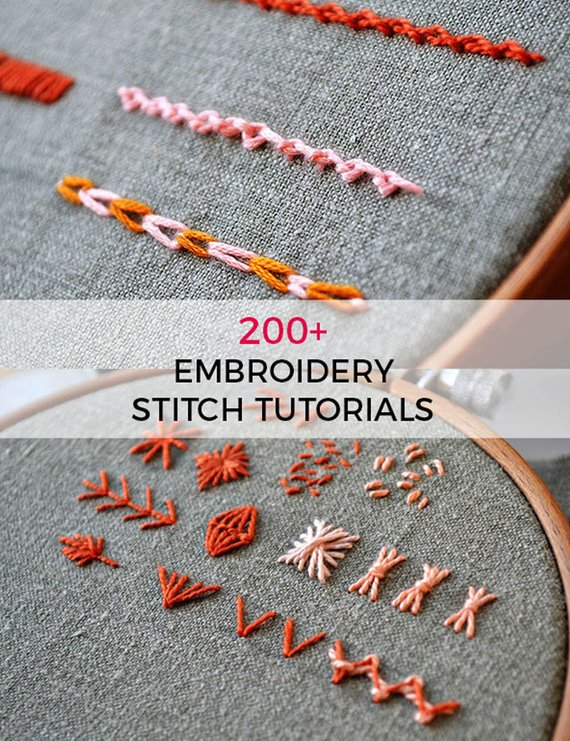 Beginner Hand Embroidery Pattern Stitch Book 206 Embroidery Stitch