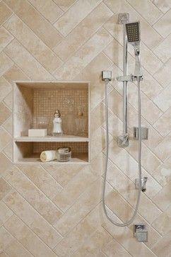 Neutral Tile Shower Design Ideas Pictures Remodel And Decor Shower Tile Shower Tile Designs Patterned Bathroom Tiles