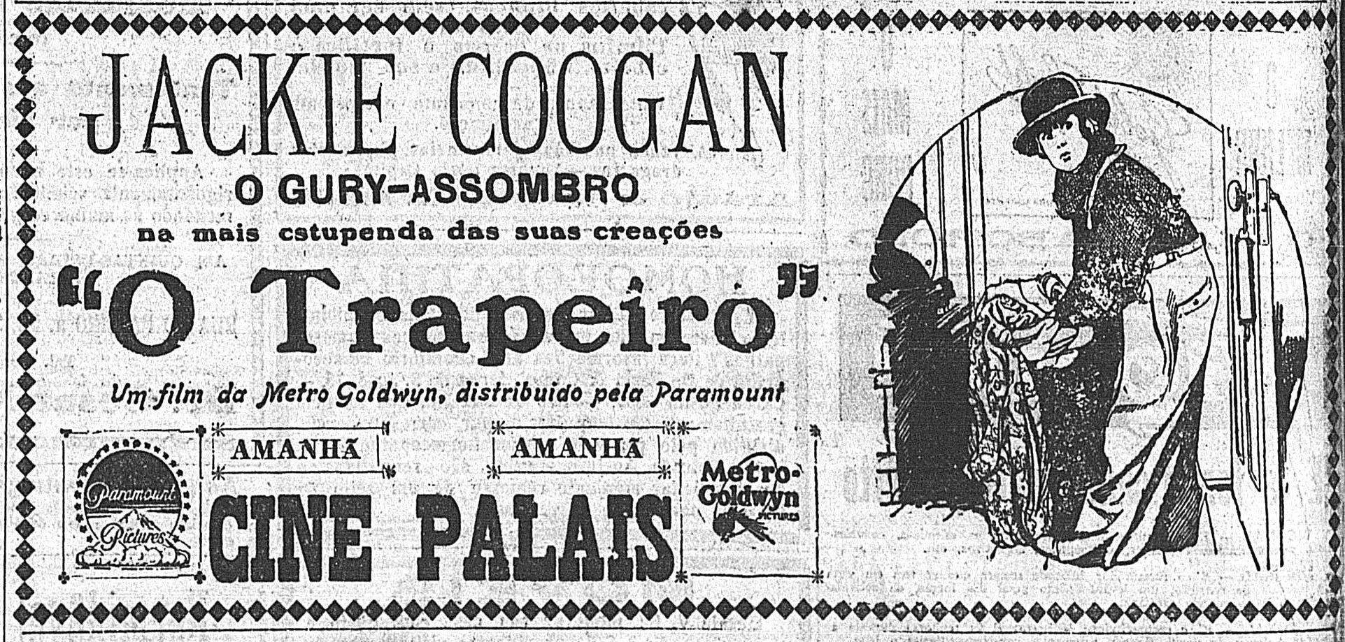 1925 - THE RAG MAN - Edward F. Cline - (CORREIO DA MANHA, Sunday, September 13, 1925, Rio de Janeiro, Brazil)