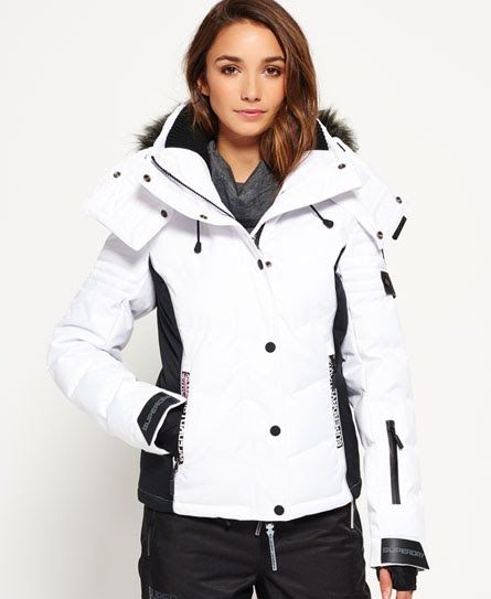 17095a9aa Superdry Snow Puffer Jacket White