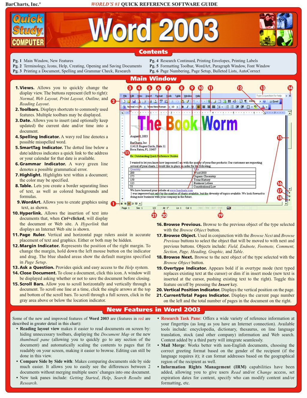 Word 2003 (eBook) Words, Teacher presentations, Printing
