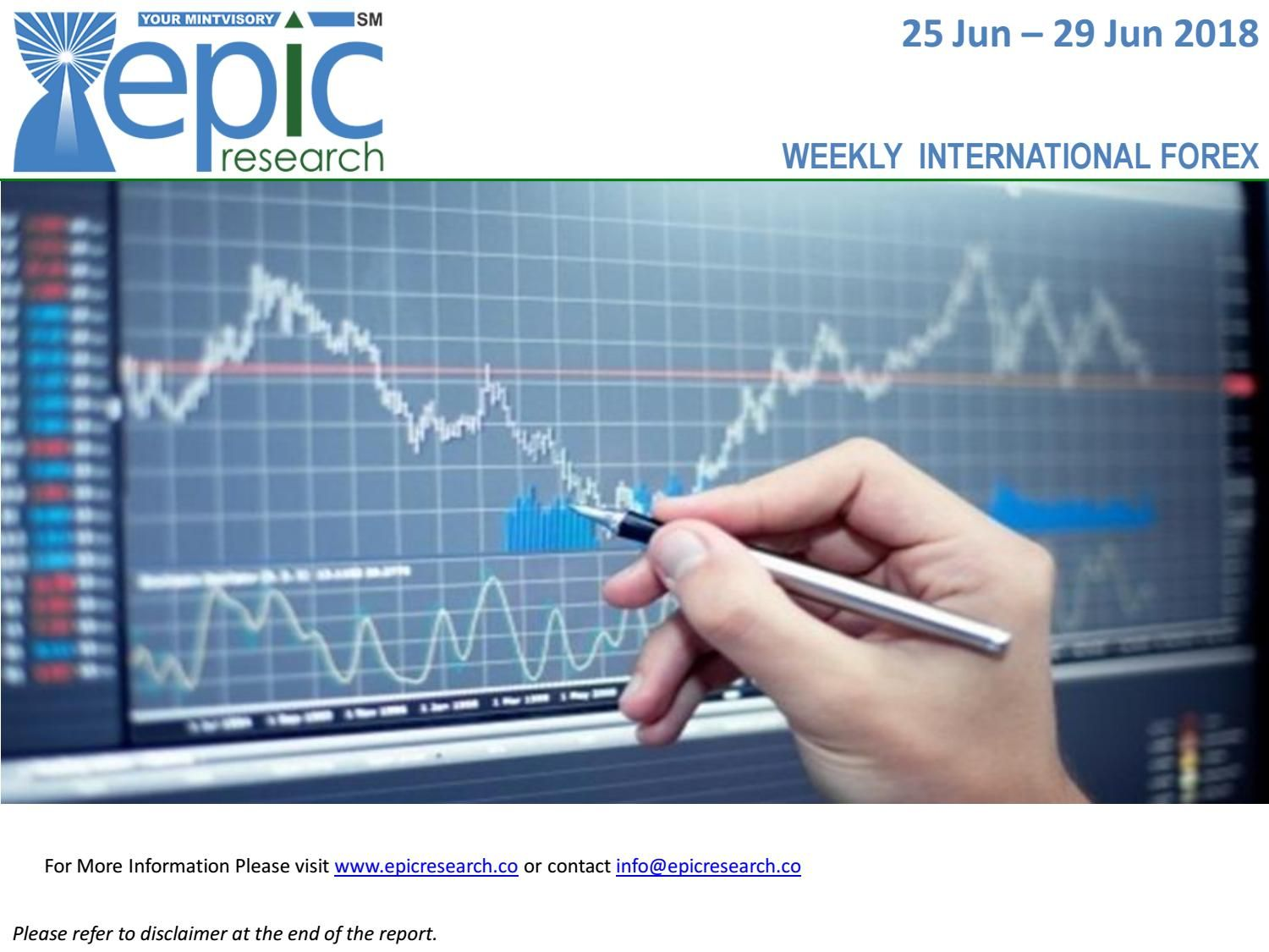 Weekly Iforex Report 25 June 2018 Forex Trading Forex Trading