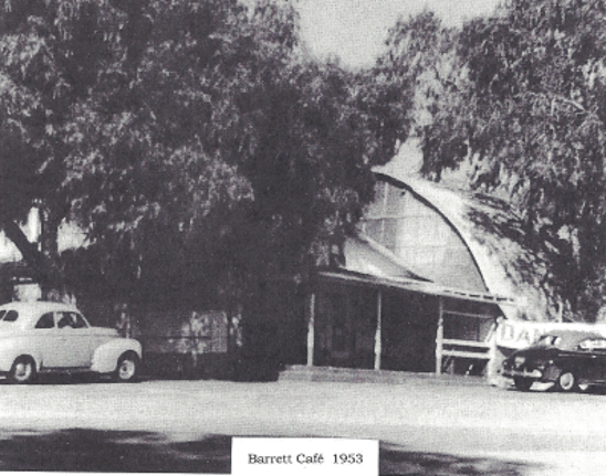 Barrett Junction Cafe Patio, San diego, History