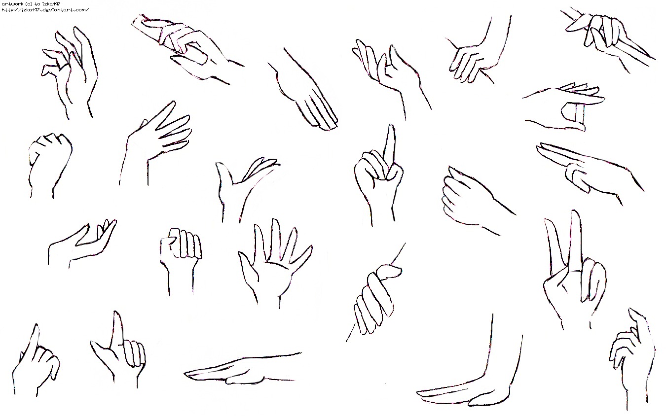 Drawing Anime Hands