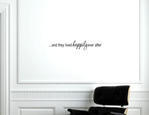 And they lived happily ever after vinyl wall decals quotes sayings words ebay