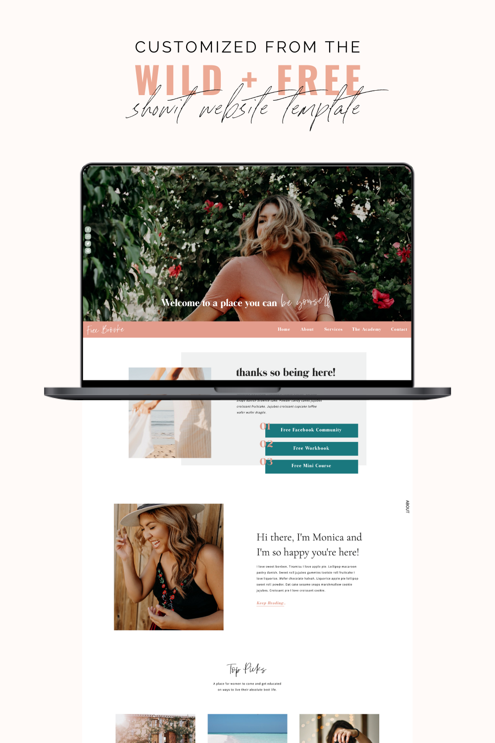 The Wild Free Website Template For Showit Designed By Bold X Boho Free Website Templates Minimal Web Design Squarespace Web Design