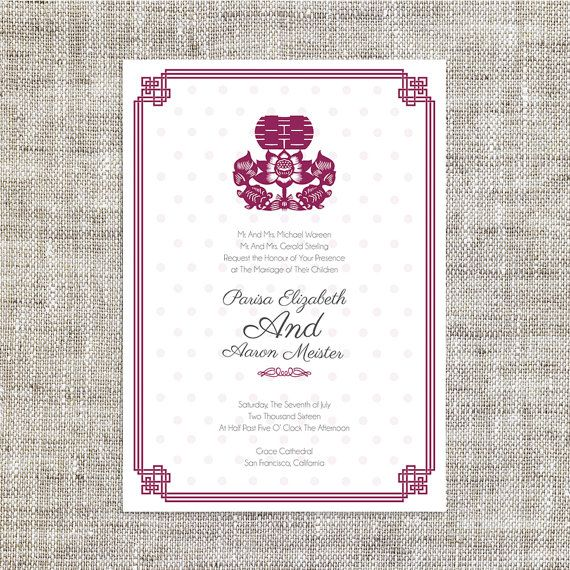 Diy easy printable chinese wedding invitation card by imleaf other diy easy printable chinese wedding invitation card by imleaf stopboris Image collections