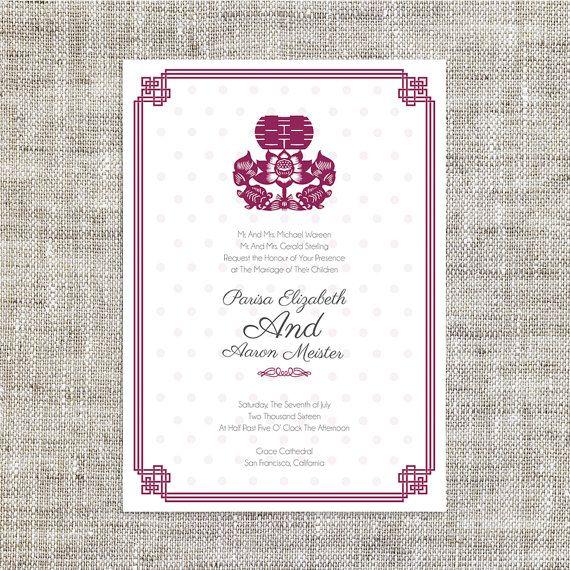 Diy Easy Printable Chinese Wedding Invitation Card Template Instant Do Chinese Wedding Invitation Card Wedding Invitations Diy Wedding Invitation Card Template