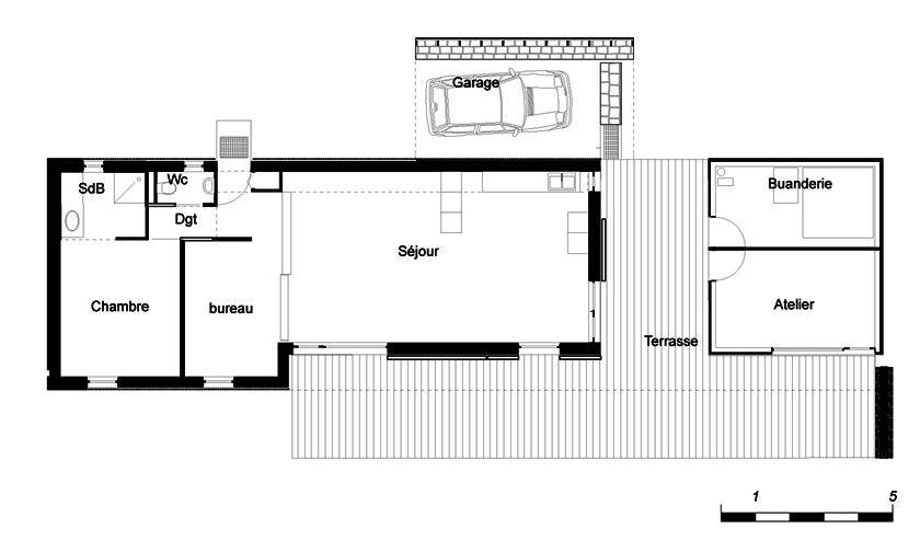 YannOuvrieux Architecte  Maison B  Plan  Archi