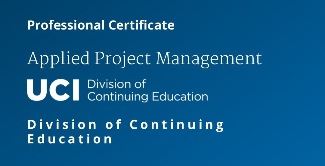 Applied Project Management Professional Certificate University Of