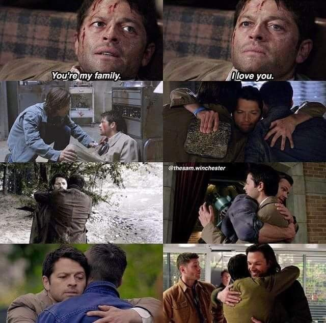 Youre My Family I Love You Castiel To Sam And Dean