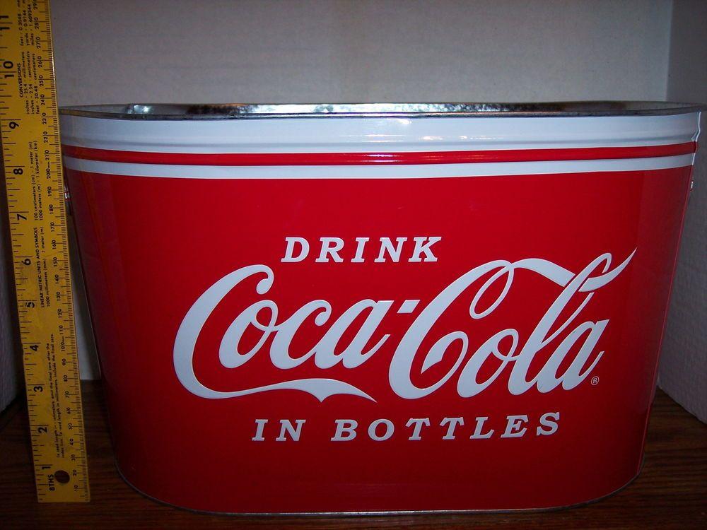 Coca Cola Trash Can Waste Basket Magazine Holder Umbrella Stand