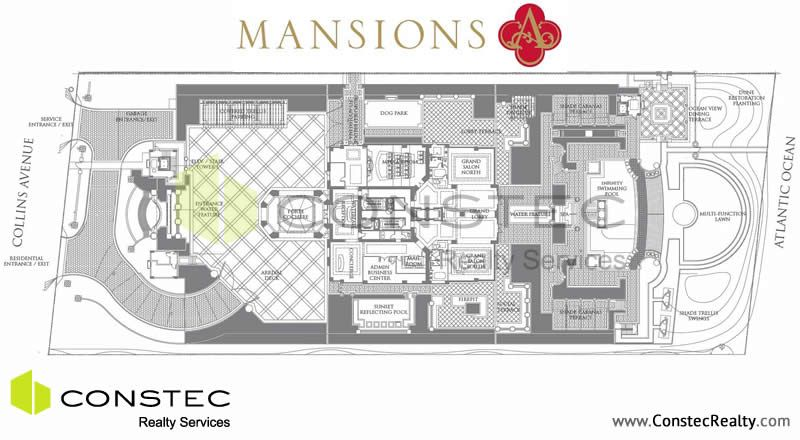 Mansions At Acqualina Site Plan Sunny Isles Beach Floor Plans Click For Available Condos For Sale And Apartment Speci Beach Floor Plans Floor Plans Mansions