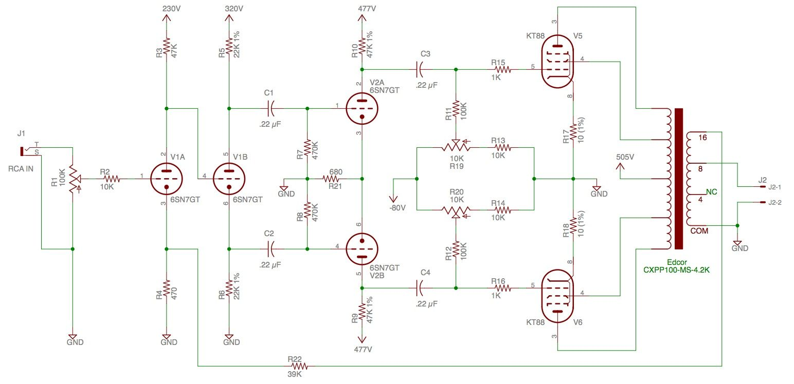My KT88 Williamson Amp Build | Valve amplifier, Amp, Hifi | Williamson Wiring Diagram |  | Pinterest