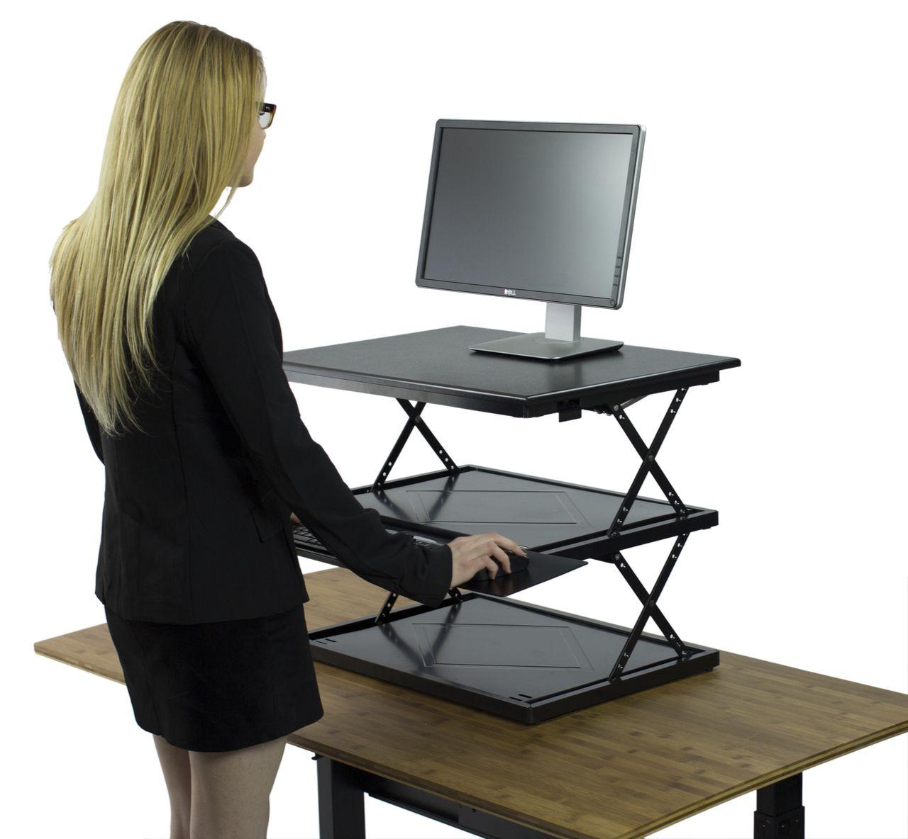 Adjustable Height Standing Desk Conversion