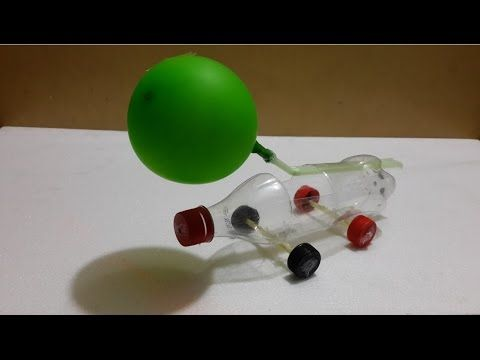 How To Make A Balloon Powered Car Very Simple Easy