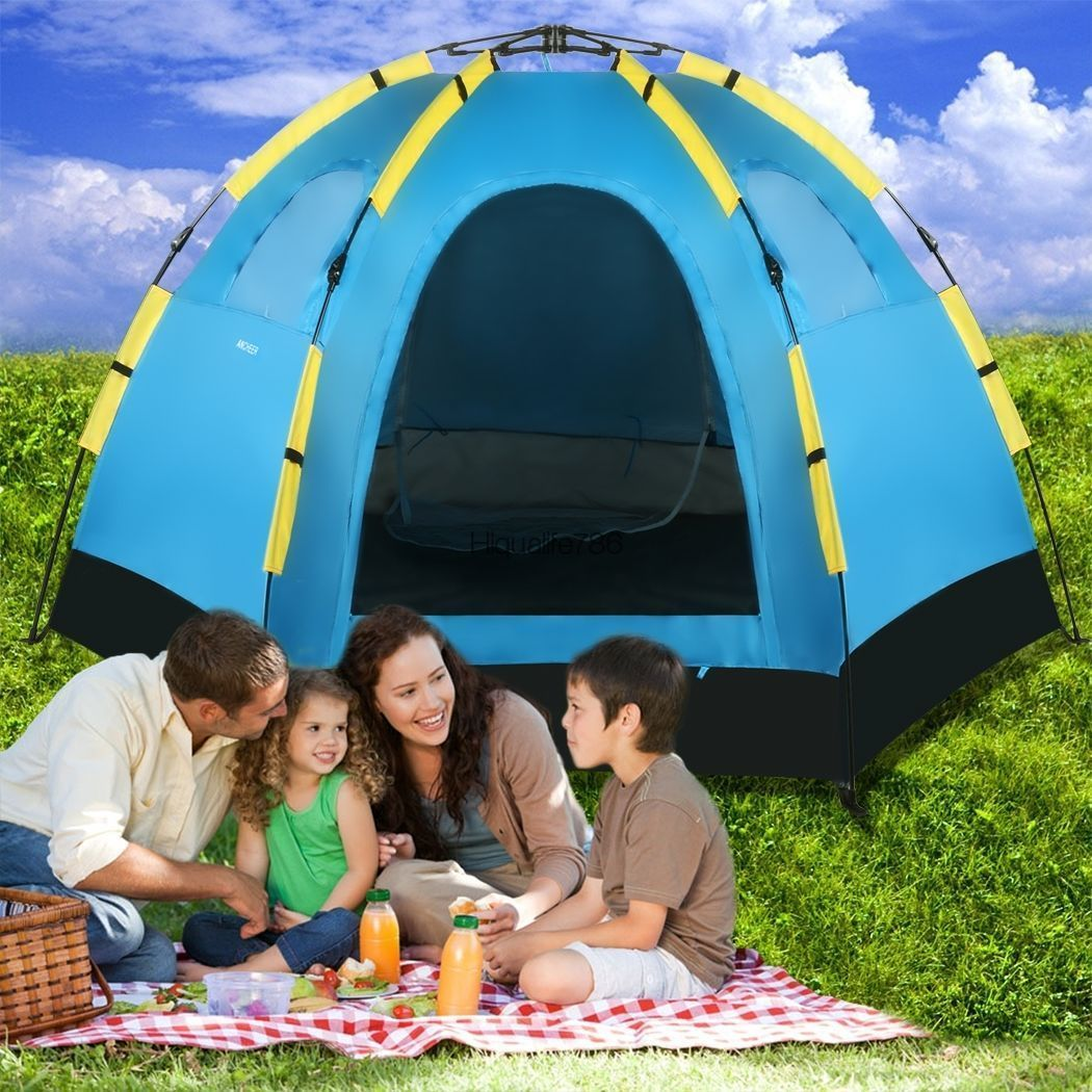 Family Tent Outdoor 5-8 Person Hiking C&ing Automatic Pop up Tent 3 Window USA  sc 1 st  Pinterest & Family Tent Outdoor 5-8 Person Hiking Camping Automatic Pop up ...
