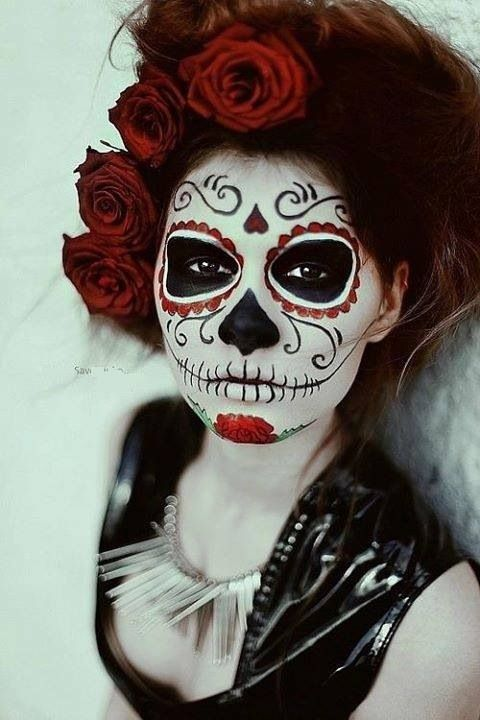 Hermosa muerte Catrinas Pinterest Sugar skulls, Theater makeup - best halloween face painting ideas