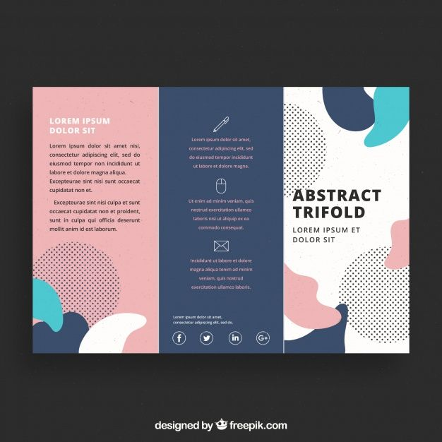 Creative Colorful Trifold Business Brochure Template Free Vector