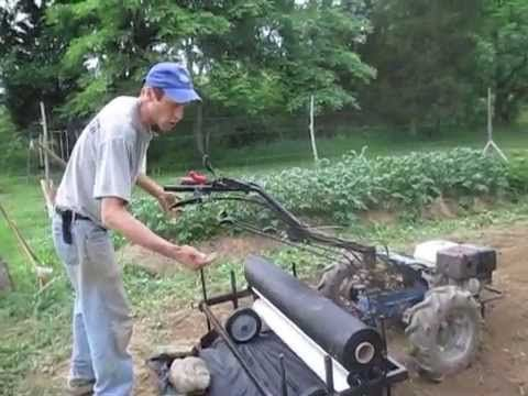 4 Foot Plastic Mulch Layer On Walk Behind Tractor Youtube With