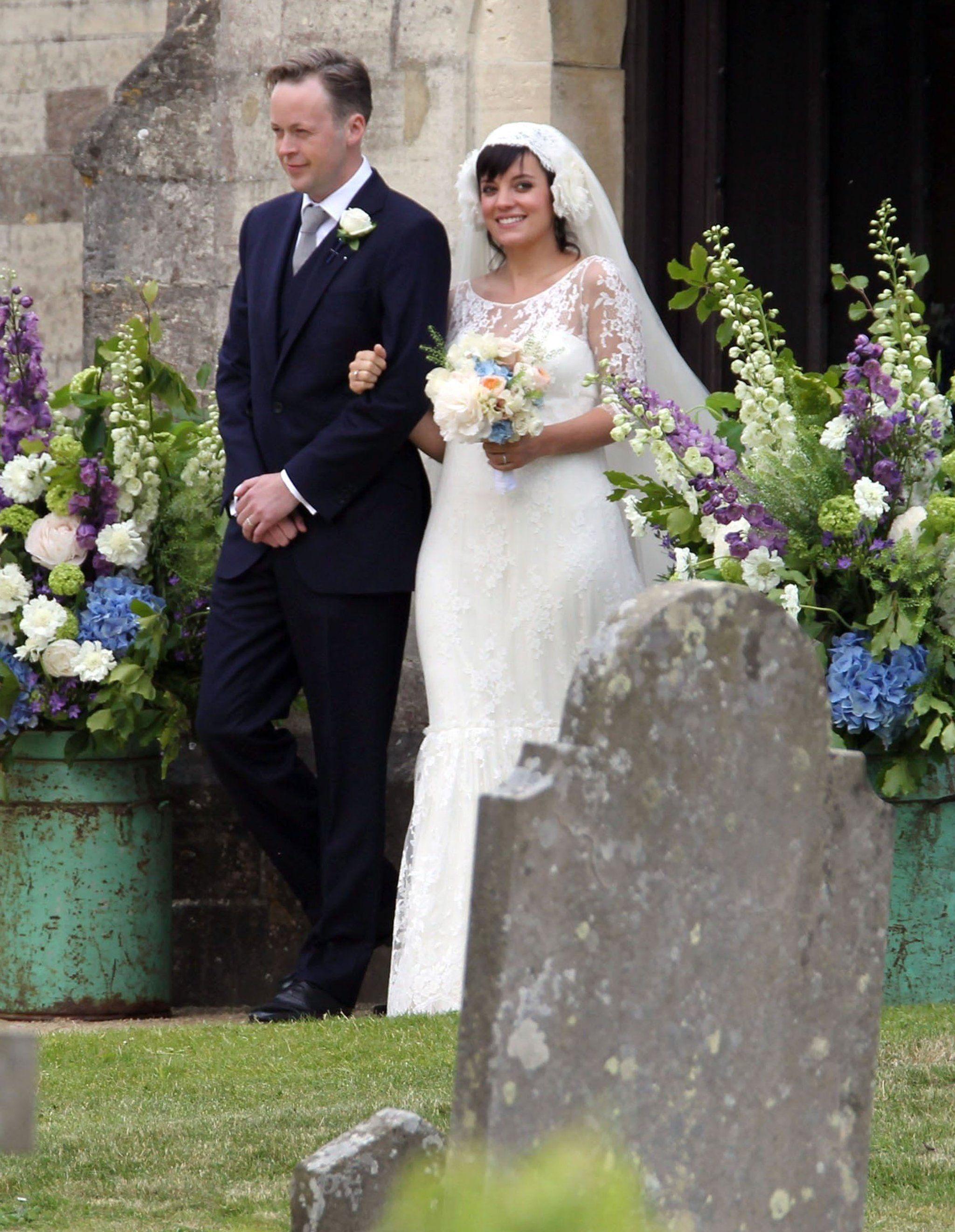 Lily Allen and Sam Cooper Celebrity wedding dresses
