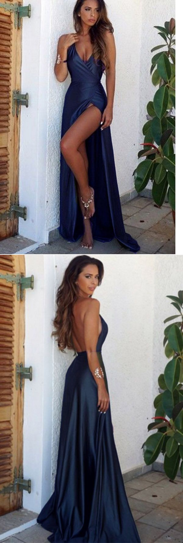 Olive greennavyburgundy sexy high slit long evening party dresses