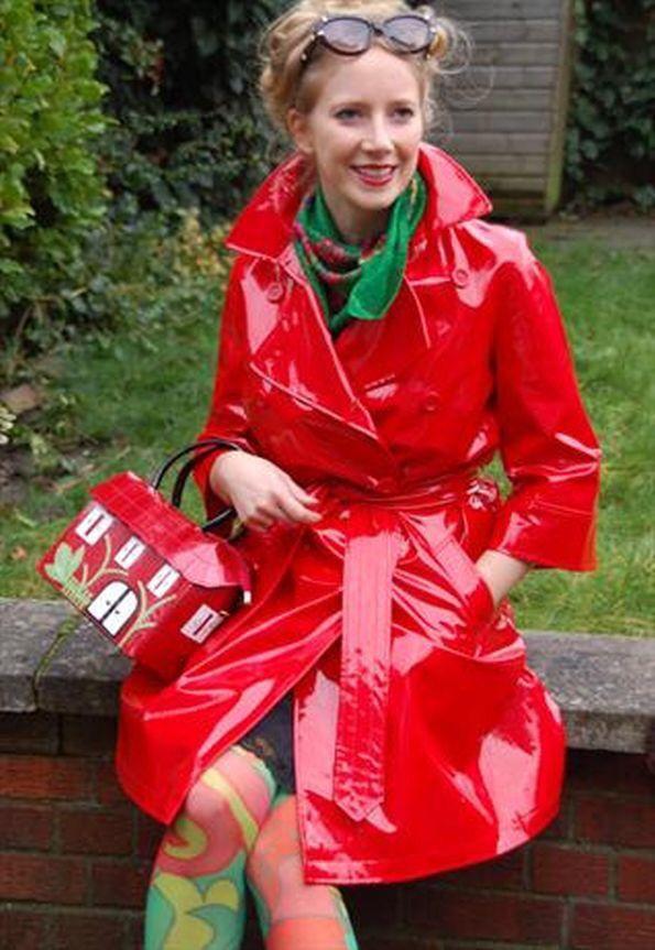 Red vinyl slicker ! | Shiny ! | Pinterest | Raincoat, Pvc raincoat ...