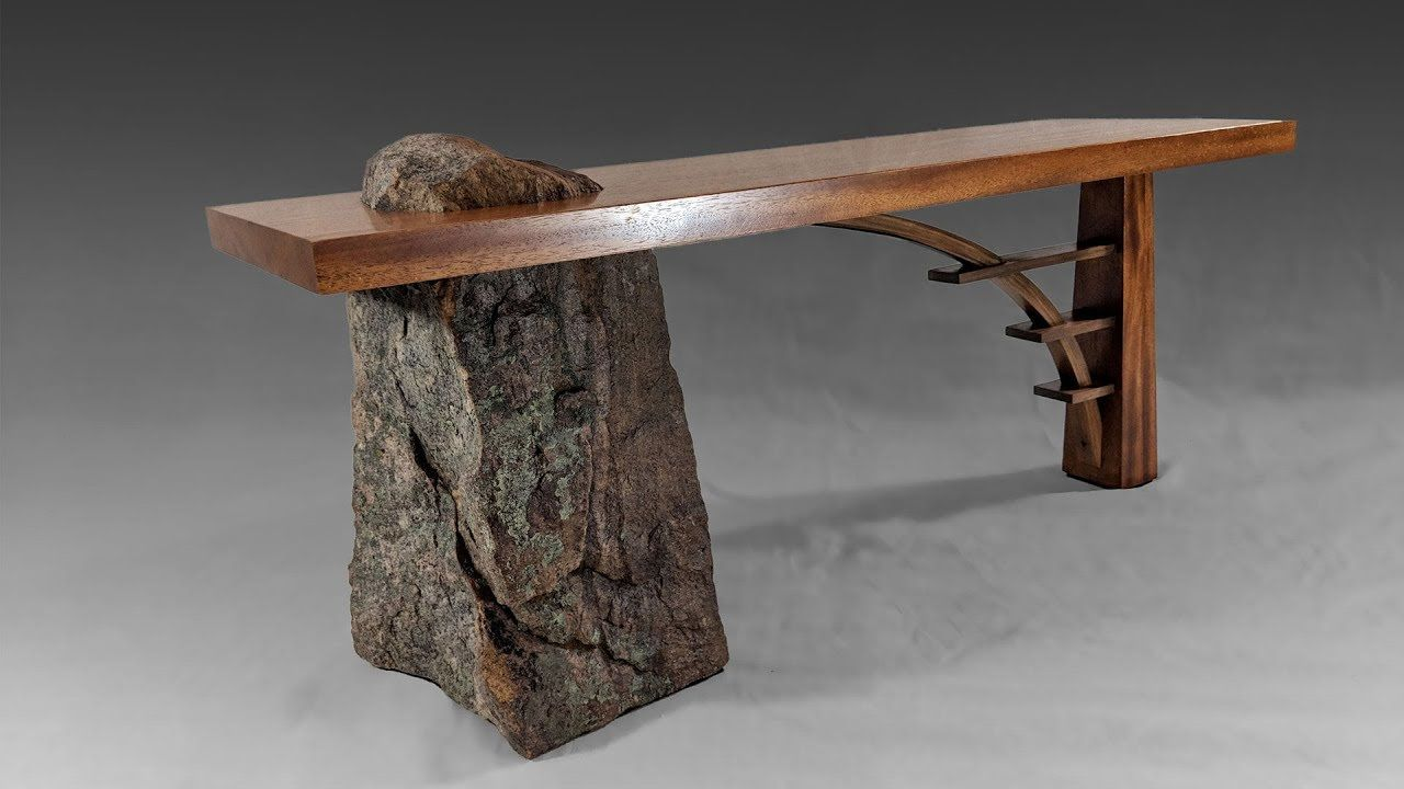 Building A Stone And Wood Bridge Bench Woodworking Stone Wood Bridge Wood Furniture Furniture