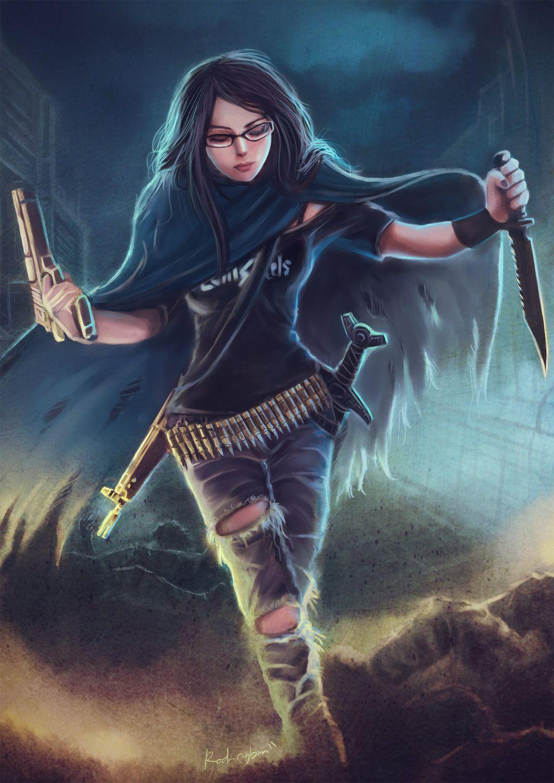 Zombie Hunting By Oshirockinghamiantart On @deviantart #woman # Slayer #