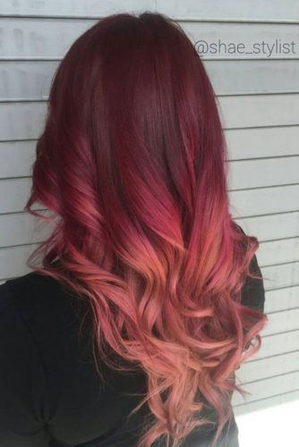 27 Best Red Ombre Hair Color Ideas For Long