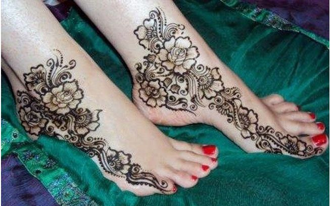 Mehndi Legs Images : Mehndi designs for leg http: www.beautyglimpse.com top 20