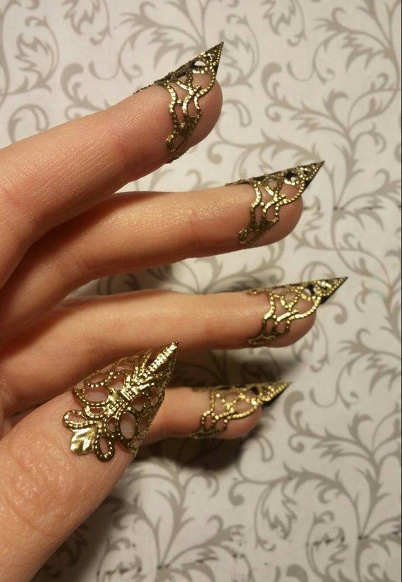 Gold Dragon Claws // Nail Armor // Set of 5 | Etsy in 2019 ...