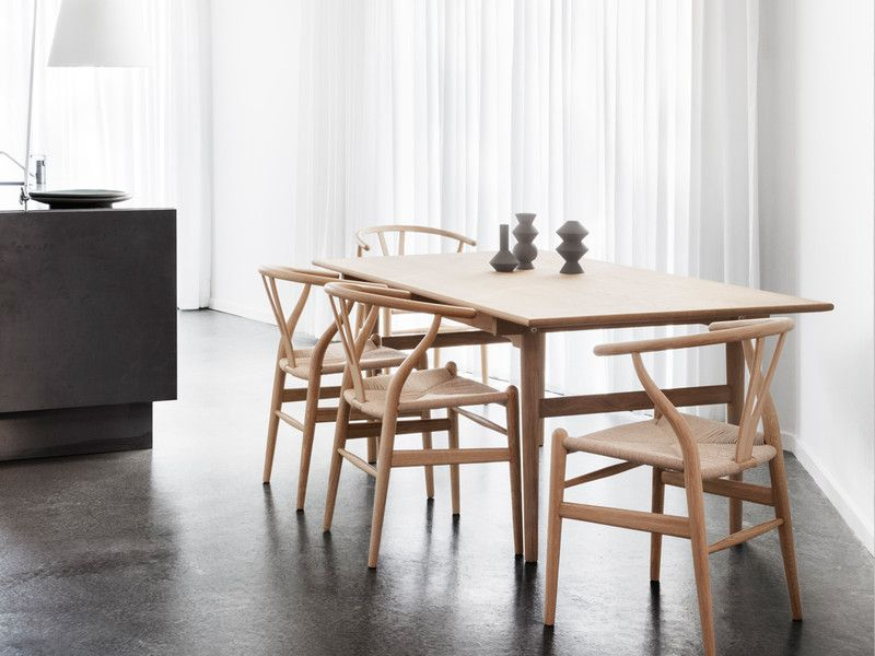 Carl Hansen Ch327 Dining Table And Ch24 Chair Set In 2020 Dining