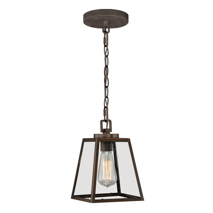 Lowes Pendant Lighting Delectable $82 Shop Cascadia 7In W Burnished Bronze Mini Pendant Light With Decorating Design