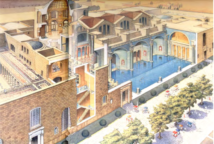 roman baths reconstruction - Google Search | roma antiga ... Baths Of Caracalla Reconstruction