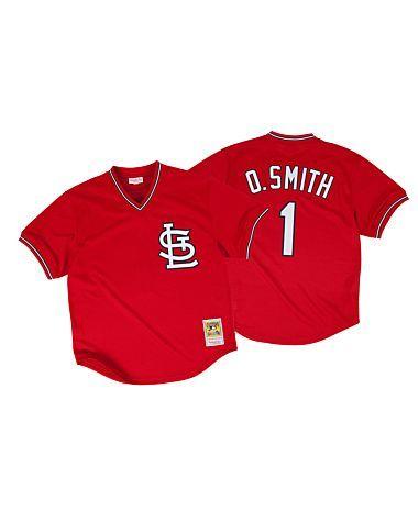 4bf6d86f4 Ozzie Smith 1996 Authentic Mesh BP Jersey St. Louis Cardinals--medium
