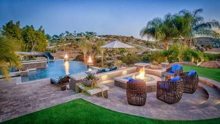 Spectacular views of the Arizona desert are put on display at this luxe  retreat designed by architect Tor Barst… | Outdoor fire pit seating,  Backyard pool, Backyard