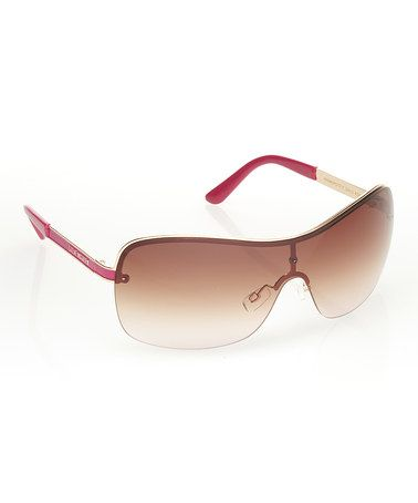Look at this #zulilyfind! Pink Shield Sunglasses #zulilyfinds. $16.99