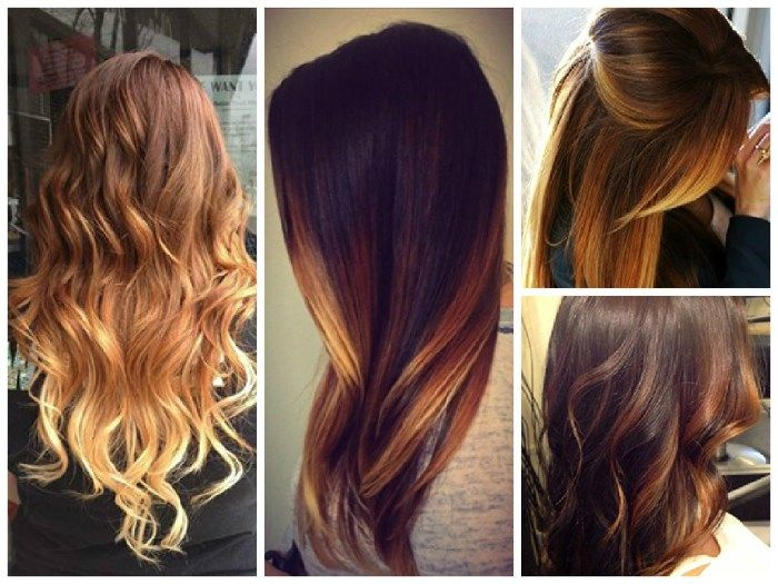 колорирование волос фото на темных волосах